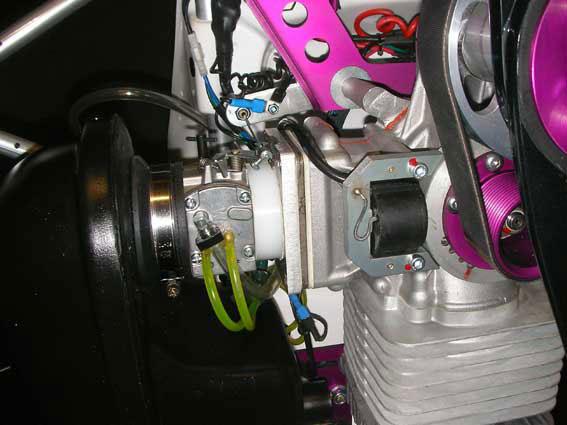 Adventure Tiger 160 petite Poulie anodisée violette = ancienne réduction 1:2,4
